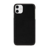 Coach Black Logo Leather Wrap Case for iPhone 11