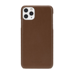 Coach Saddle Logo Leather Wrap Case for iPhone 11 Pro Max