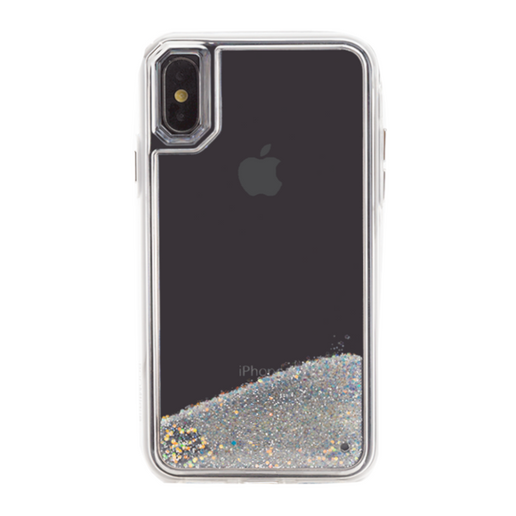Boomtique Waterfall Silver for iPhone Xs Max