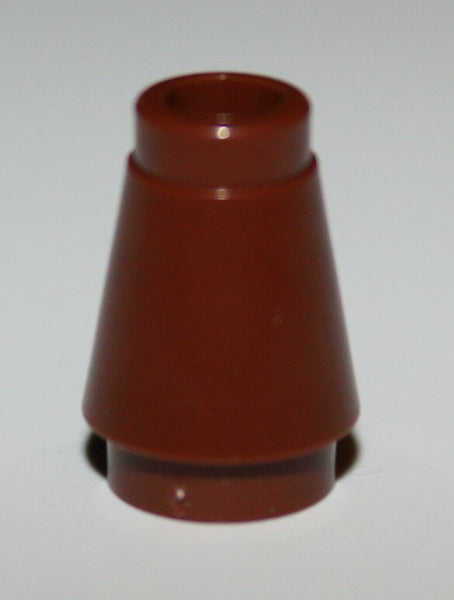 Lego 50x Reddish Brown 1 x 1 Cone NEW