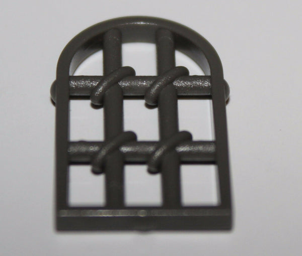 Lego 2x Dark Gray 1 x 2 x 2 2/3 Twisted Window Pane