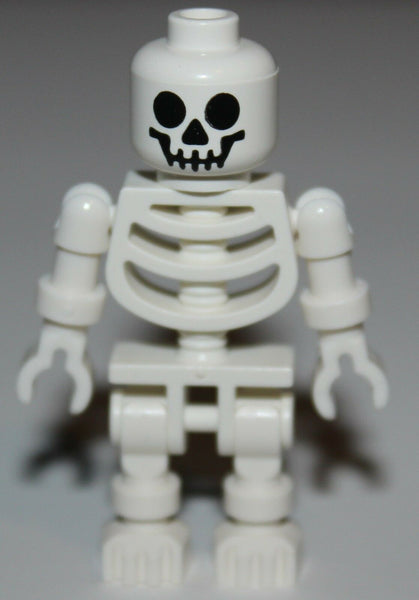 Lego Castle White Skeleton Minifig Round Eyes Head NEW