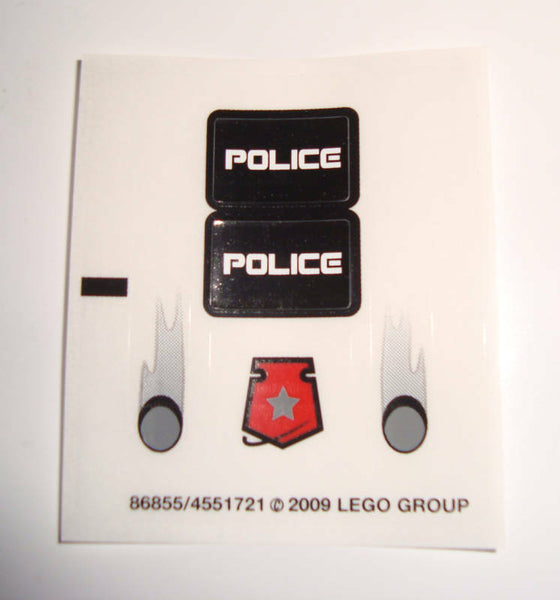 Lego 2x Police Badge Decal Sticker Sheet NEW