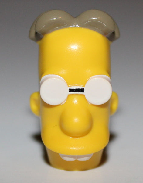 Lego Yellow Head Modified Simpsons Professor Frink with Glasses NEW