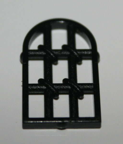 Lego 2x Black 1 x 2 x 2 2/3 Twisted Window Pane