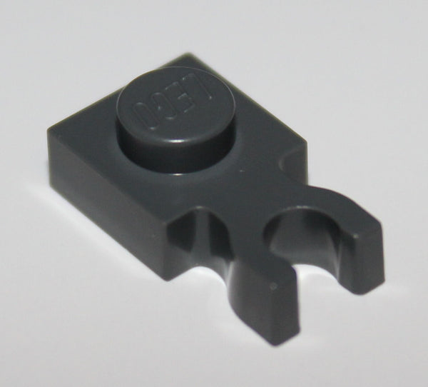 Lego 20x Dark Bluish Gray Plate, Modified 1 x 1 with Clip Vertical - Type 3