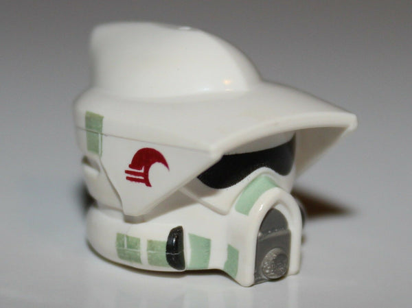 Lego Star Wars White Minifig Headgear Helmet SW ARF Trooper Pattern NEW