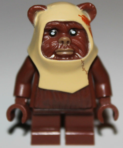 Lego Star Wars Reddish Brown Paploo Ewok Minifig NEW