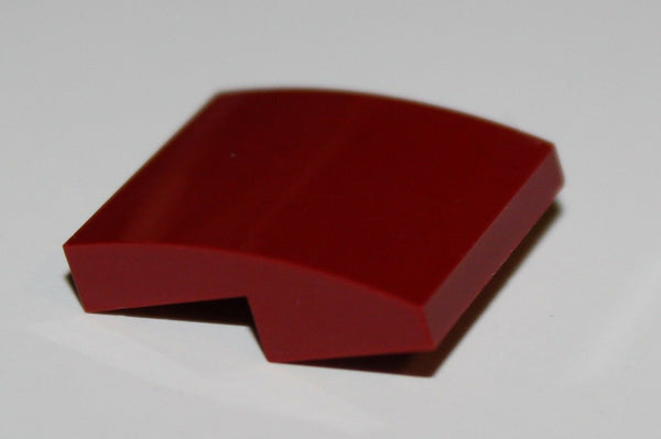 Lego 12x Dark Red Slope, Curved 2 x 2 No Studs NEW