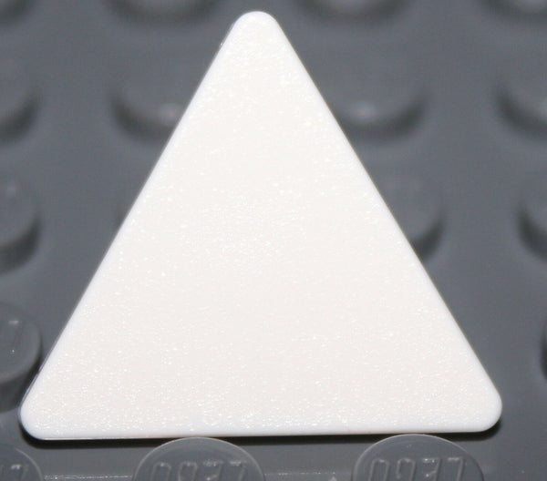 Lego 4x White Road Sign Clip-on 2 x 2 Triangle NEW