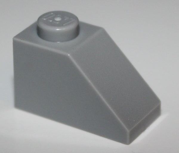 Lego 12x Light Bluish Gray Slope 45 2 x 1 NEW