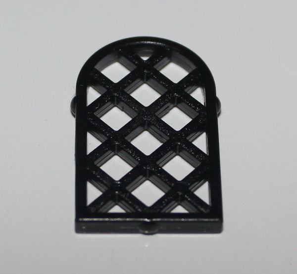 Lego 2x Black 1 x 2 x 2 2/3 Lattice Window Pane
