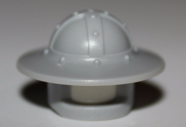 Lego Castle Light Bluish Gray Broad Brim Helmet Headgear NEW