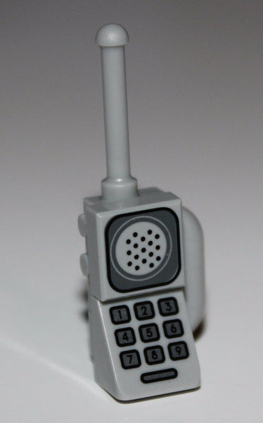 Lego Light Bluish Gray Minifig Utensil Radio Cell Phone Tile Speaker Keypad