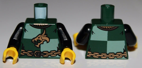 LeGo Castle Torso Kingdoms Dragon Head Quarters w/ Chain Front and Back Pattern