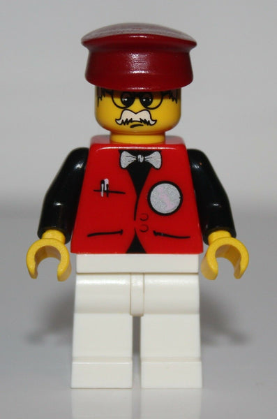 Lego Infomaniac Minifig w/ Dark Red Hat NEW