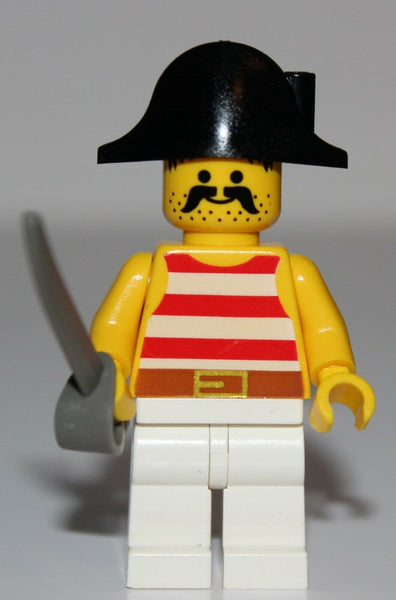 Lego Pirate Minifig w/ Black Bicorne Hat NEW