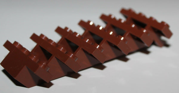 LeGo Reddish Brown Stairs 7 x 4 x 6 Straight Open Staircase NEW