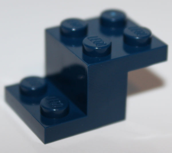 Lego 10x Dark Blue Bracket 3 x 2 x 1 1/3 NEW