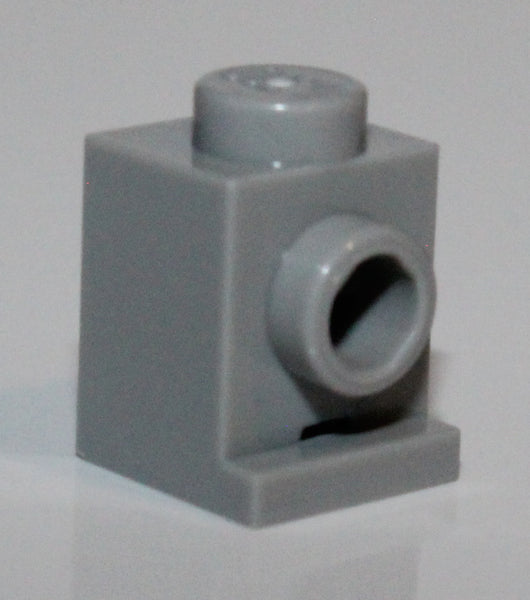Lego 10x Light Bluish Gray Brick, Modified 1 x 1 with Headlight