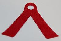 Lego Red Minifig Cape Cloth 2 Long Tails - Spongy Stretchable Fabric