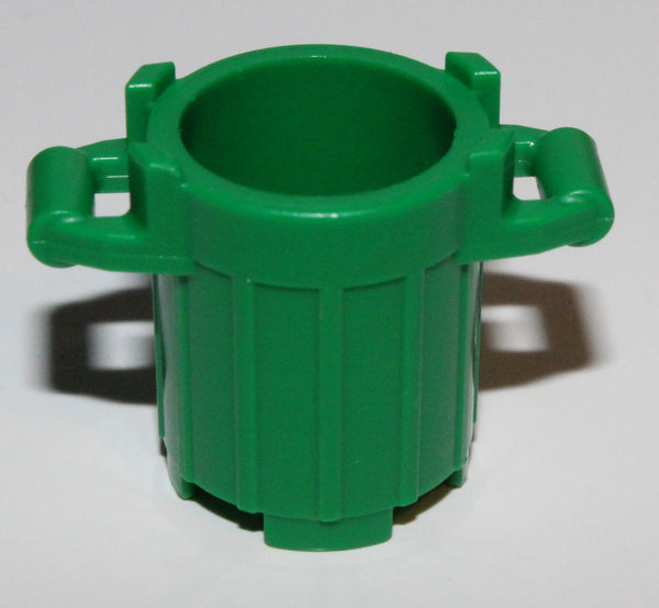 Lego 4x Green Container, Trash Can with 4 Cover Holders