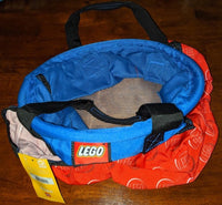 Lego Big Storage Bucket Bag Red/Blue Gear VIp Rare NEW