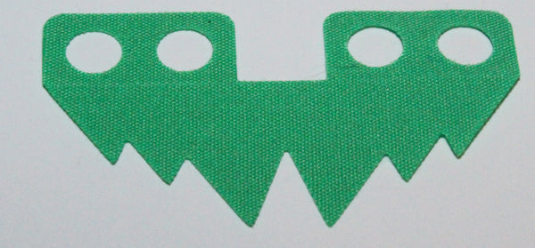 Lego Bright Green Minifig Skirt Cloth 6 Large Points Grass
