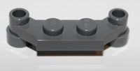 Lego 10x Dark Bluish Gray Plate, Modified 1 x 4 Offset