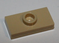 Lego 20x Tan Plate Modified 1 x 2 1 Stud Groove Bottom Stud Holder Jumper