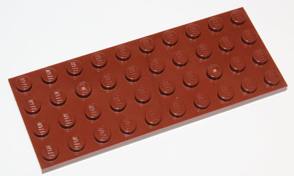 Lego 10x Reddish Brown Plate 4 x 10