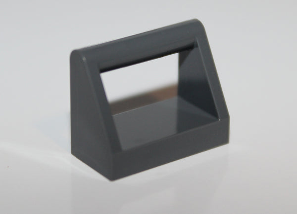 Lego 20x Dark Bluish Gray Tile, Modified 1 x 2 with Handle