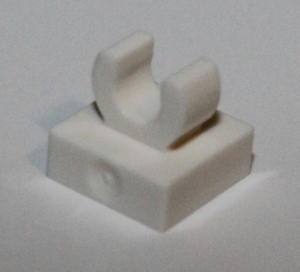 Lego 20x White Tile, Modified 1 x 1 with Open O Clip