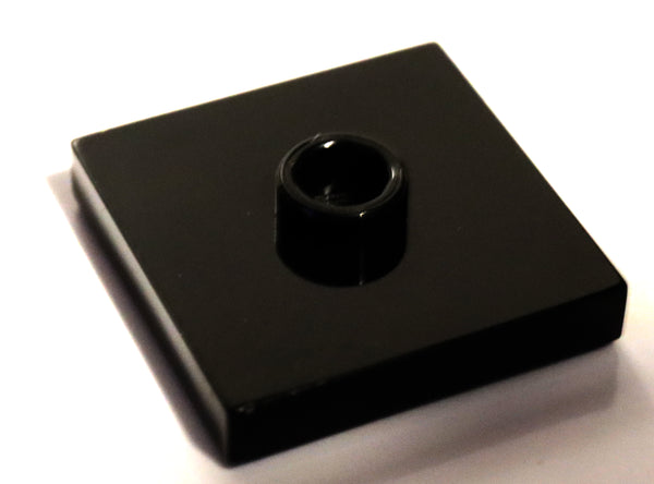 Lego 9x Black Tile Plate Modified 2 x 2 Groove 1 Stud in Center Jumper
