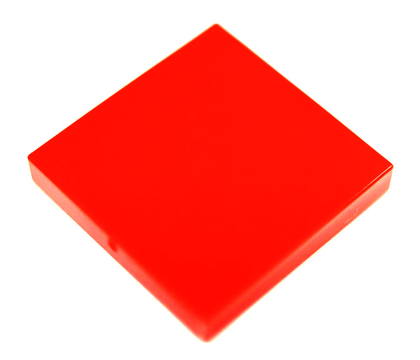 Lego 10x Red Tile 2 x 2 with Groove