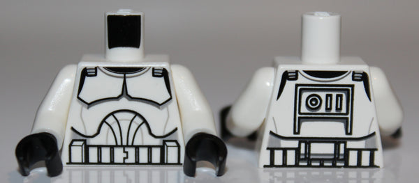 Lego Star Wars White Torso Armor Clone Trooper Pattern Clone Wars