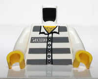 Lego City Prisoner Inmate Torso w/ Jail Stripes