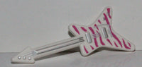 Lego White Minifig Utensil Guitar Electric ML Type Magenta Tiger Stripes