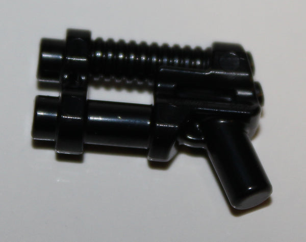 Lego 3x Black Minifig Weapon Gun Two Barrel Pistol Blaster