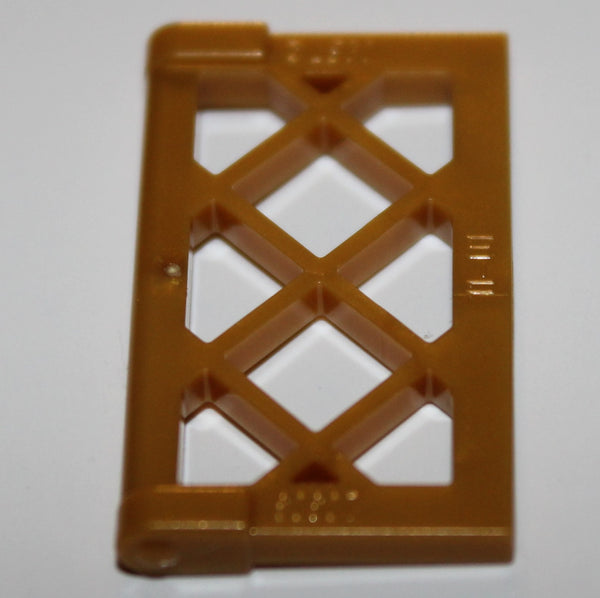 Lego 20x Pearl Gold Window 1 x 2 x 3 Pane Lattice with Thick Corner Tabs NEW