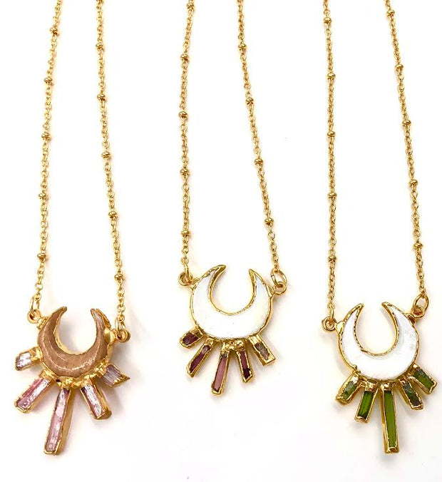 STELLA NECKLACE /// GREEN
