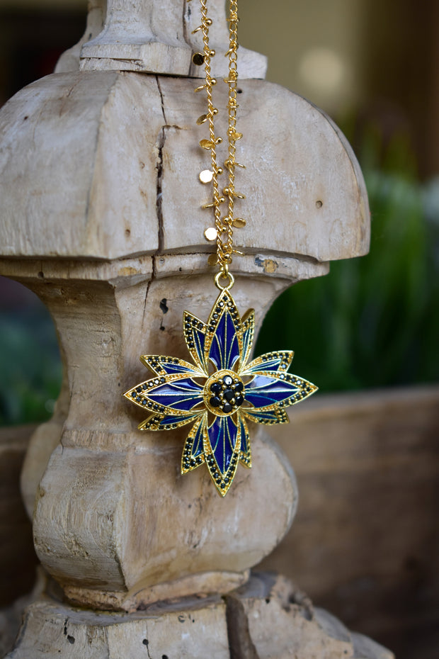 PHOENIX NECKLACE /// LAPIS BLUE