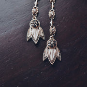 TIGER LILY DANGLE EARRINGS /// WHITE