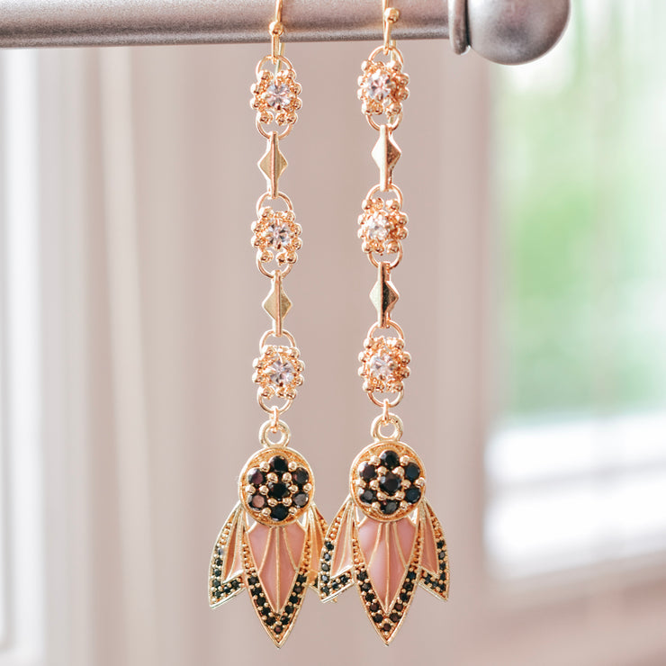 TIGER LILY DANGLE EARRINGS /// PINK