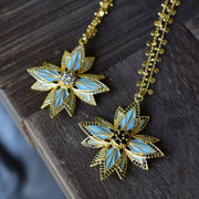 PHOENIX NECKLACE /// AQUA BLUE