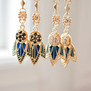TIGER LILY DANGLE EARRINGS /// LAPIS BLUE