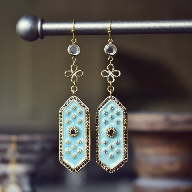 ELOISE DANGLE EARRINGS /// AQUA BLUE