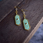 ELOISE DANGLE EARRINGS /// LAGOON GREEN