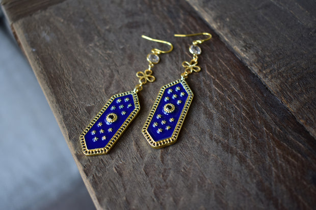 ELOISE DANGLE EARRINGS /// LAPIS BLUE
