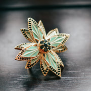 PHOENIX RING /// LAGOON GREEN